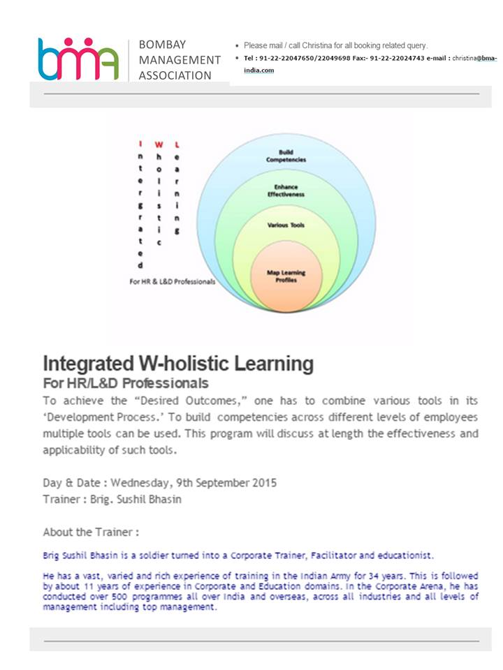Integrated W-holistic Learning