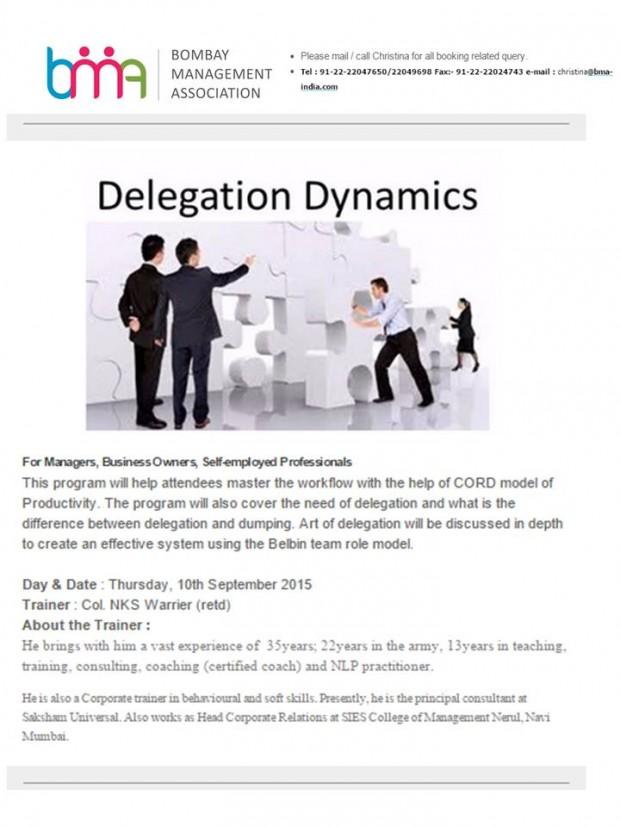 Delegation Dynamics